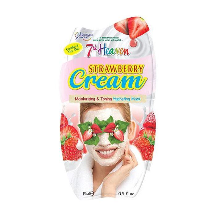 Máscara Facial Hidratante Suavizante Creme Morango