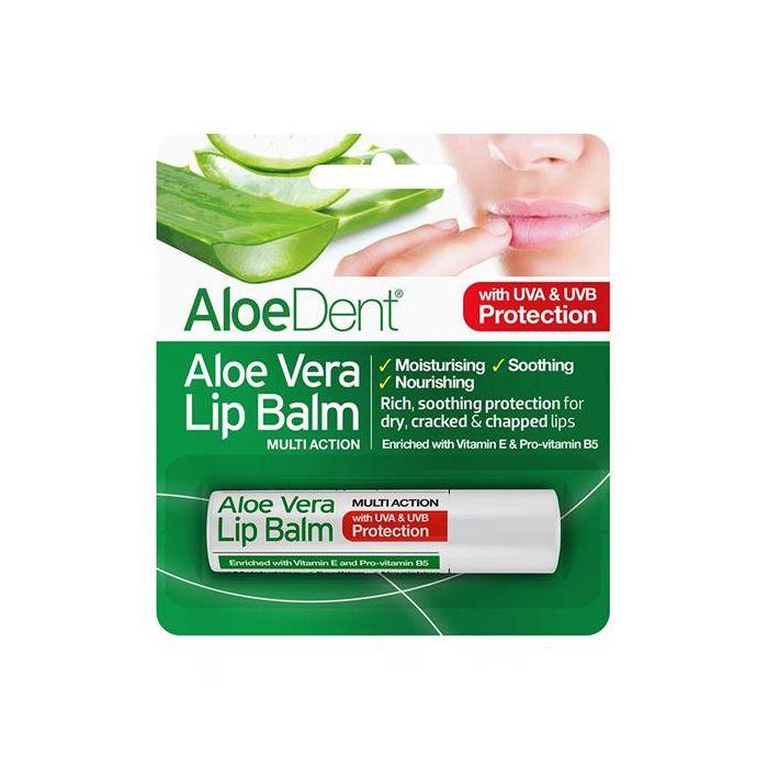 Balsamo Labial Com Aloe Vera