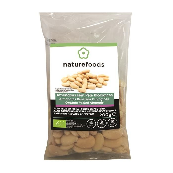 naturefoods amêndoa sem pele bio