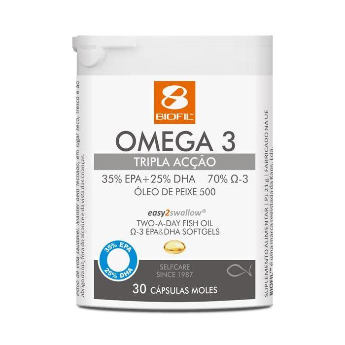Omega-3 Tripla Acção 30 Capsulas