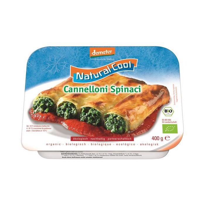 Cannelloni Espinafres Ultracongelados Bio
