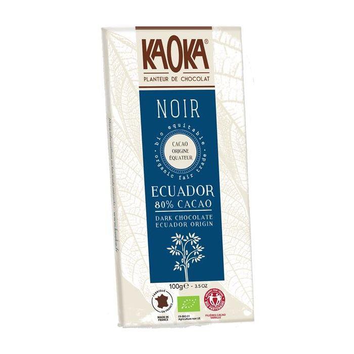 Chocolate Preto 80% Cacau Bio Fair Trade Equador