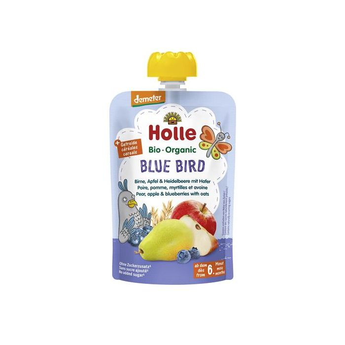 Blue Bird Puré Frutos Bio 6M