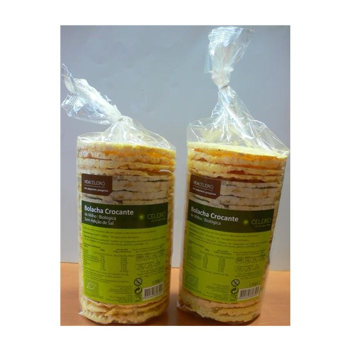 Bolacha Crocante De Milho Sem Sal Bio