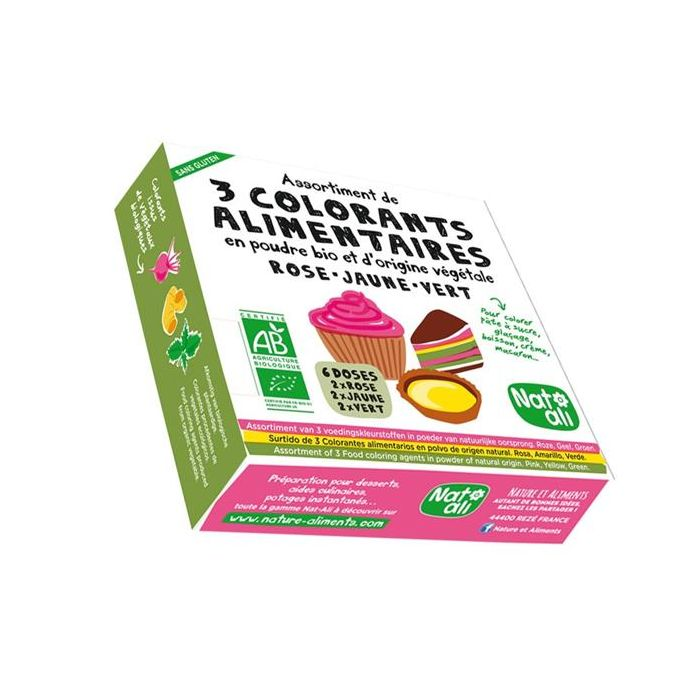 3 Corantes Alimentares Vegetais Biológicos
