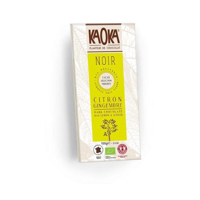 Chocolate Preto 58% Cacau Limão Gengibre Bio Fair Trade