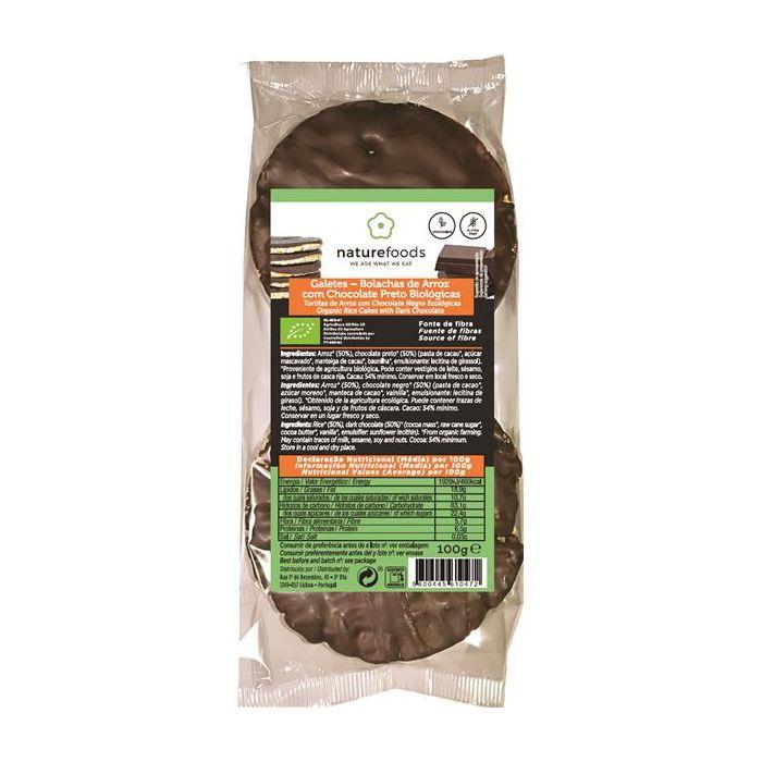 Galetes Bolachas Arroz Chocolate Preto Bio