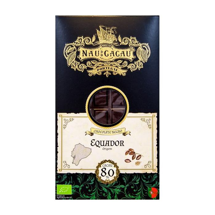Chocolate Negro 80% De Cacau Equador