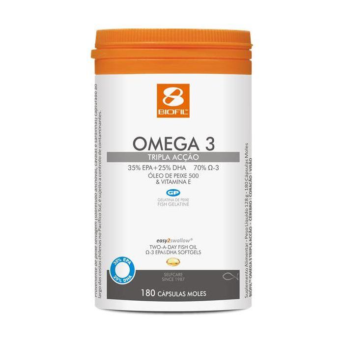 Omega-3 Tripla Acção 180 Cápsulas
