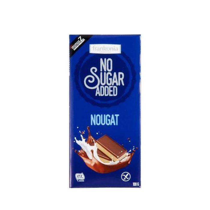 Chocolate De Leite Com Nougat Sem Açúcar Adicionado