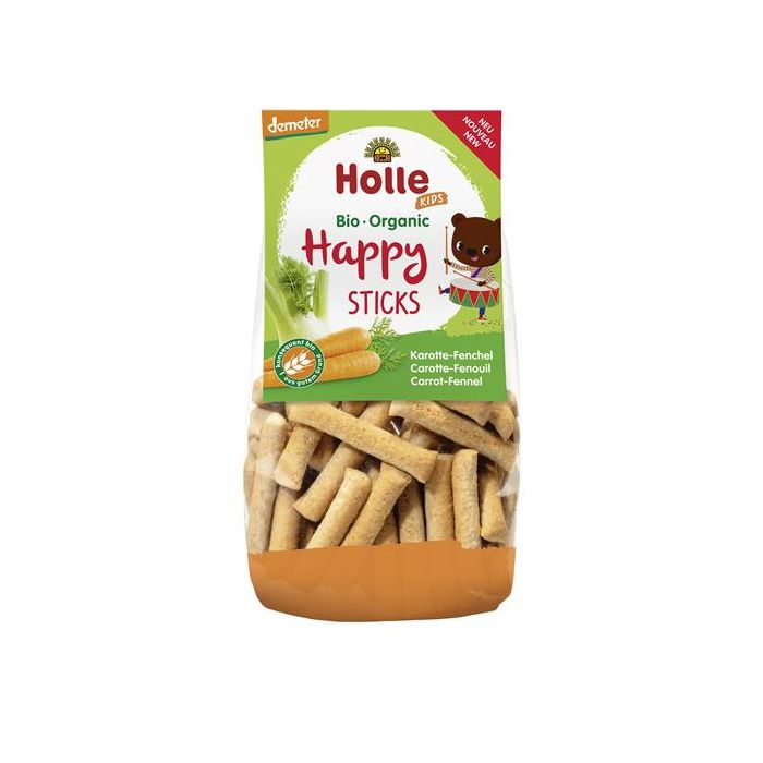 Happy Sticks - Snack Trigo Com Cenoura E Funcho Bio