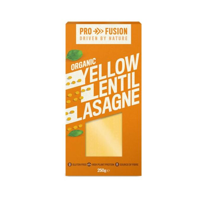 lasanha de lentilhas amarelas bio sem glúten