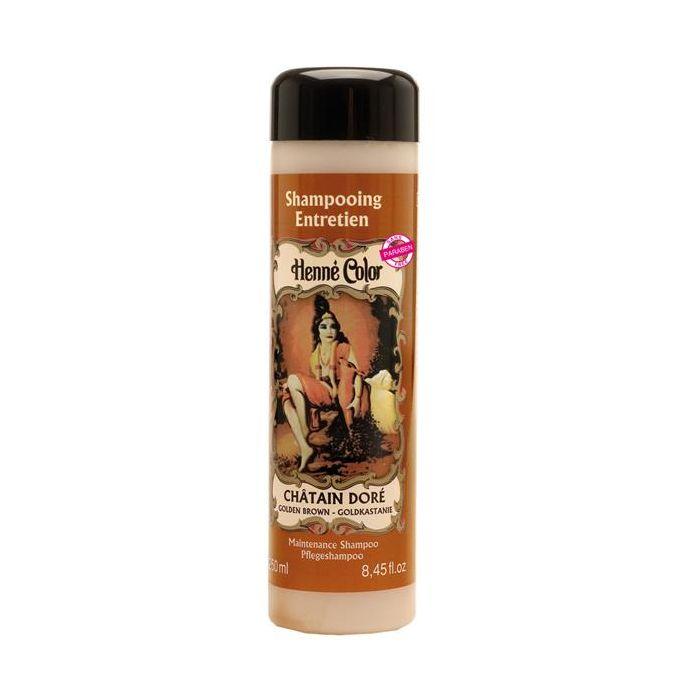 Shampoo Para O Cabelo Henné Color Chatain Dore