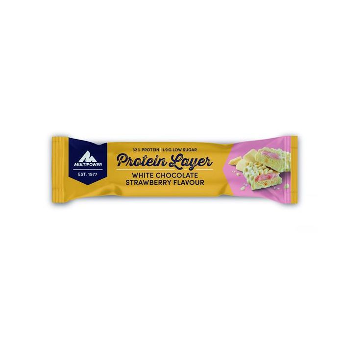 Barra Protein Layer Chocolate Branco Morango