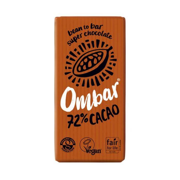Tablete Raw Bio Dark 72% 35G