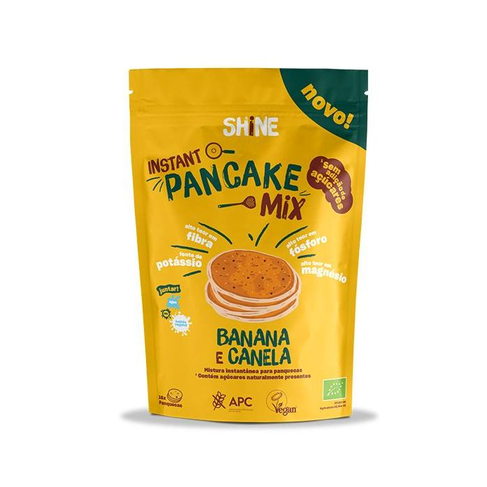 Mix Panqueca Instantânea Bio Sem Glúten Banana Canela