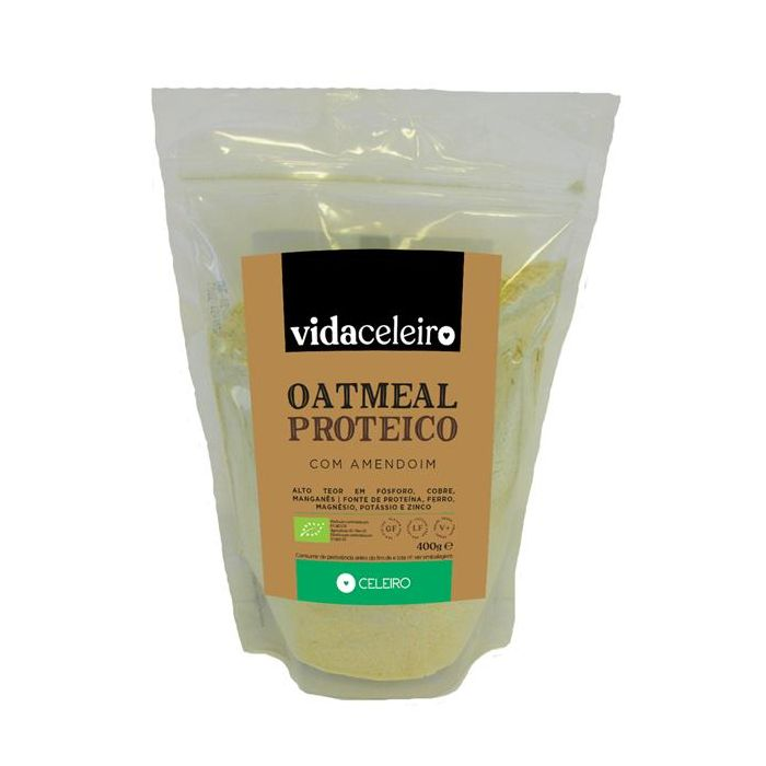 Oatmeal Proteico Amendoim Sem Glúten