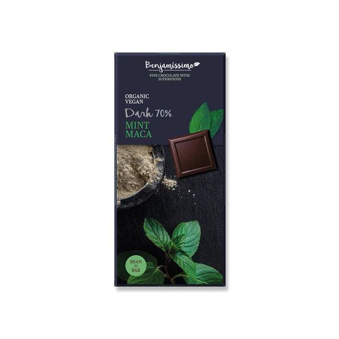 Chocolate Preto 70% Menta Maca Bio