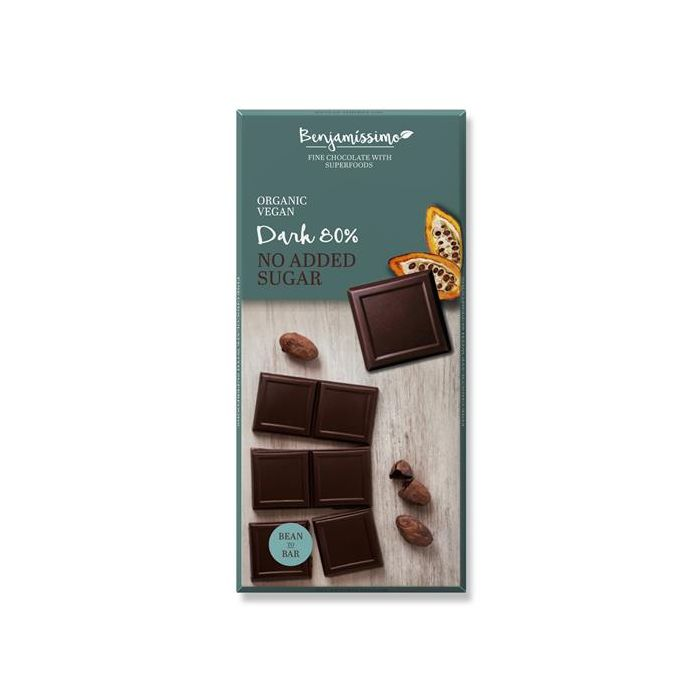 Chocolate Preto 80% Sem Adição De Açúcar Bio