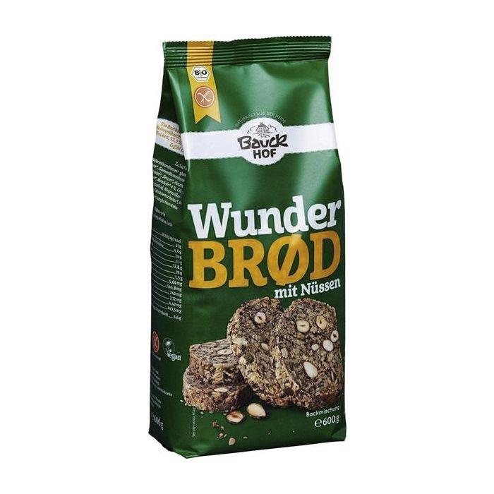 preparado pão frutos de casca rija bio sem glúten