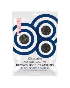 Bolachas Crackers De Arroz Integral Com Sésamo Preto Bio