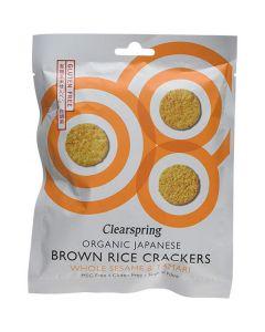 Bolachas Crackers De Arroz Integral Com Sésamo Bio
