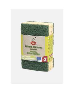 Esponjas Com Esfregao Verde - 2 Unidades