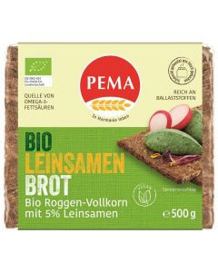 pão de centeio integral com sementes de linho bio