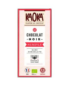 Chocolate Preto Bio Fair Trade 58% Cacau Simply