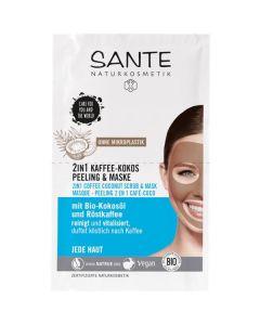 Máscara Facial Peeling Bio Café E Coco 2Em1