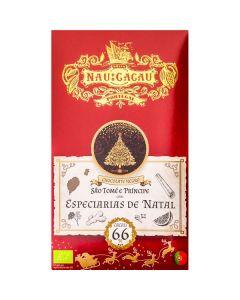 Chocolate Com Especiarias De Natal 66% Cacau