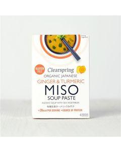 C.Spring Sopa Instantanea Miso Bio Gengibre Curcuma 4X15g