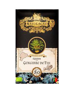 Chocolate 80% Equador Com Gengibre De Fiji